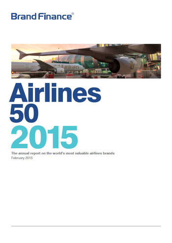 Brand Finance Airlines 50 2015