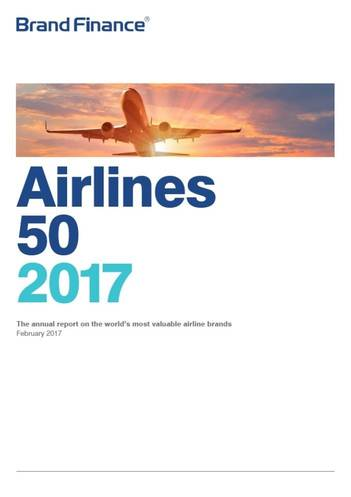 Brand Finance Airlines 50 2017