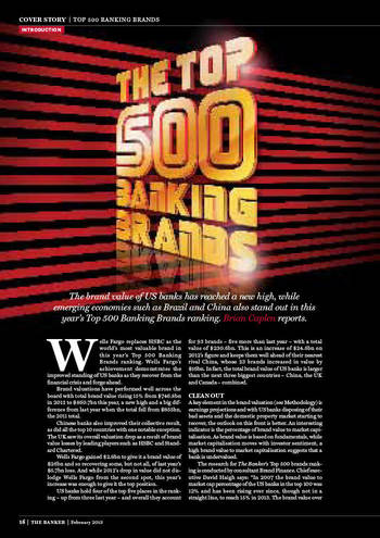 Brand Finance/The Banker Top 500 Banking Brands