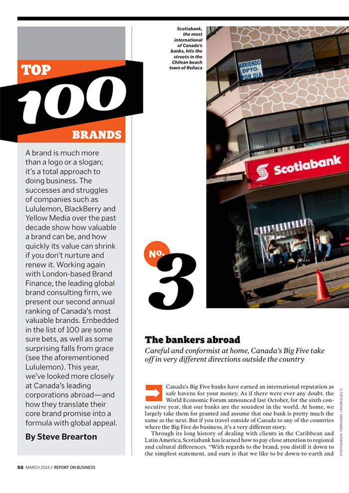 Brand Finance Top 100 Canadian Brands 2014