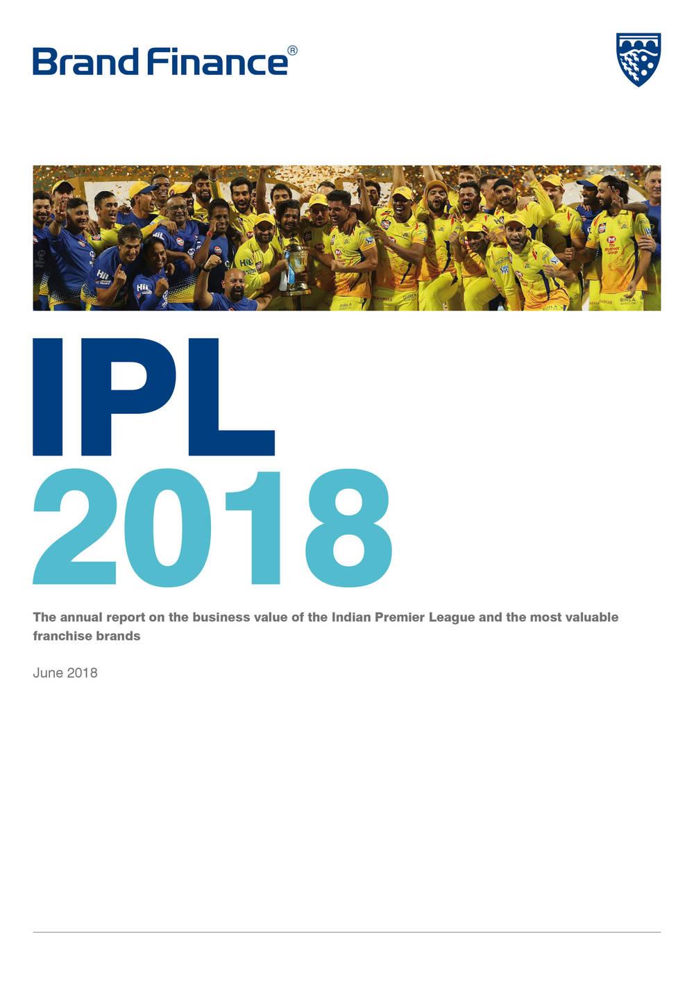 Brand Finance IPL 2018