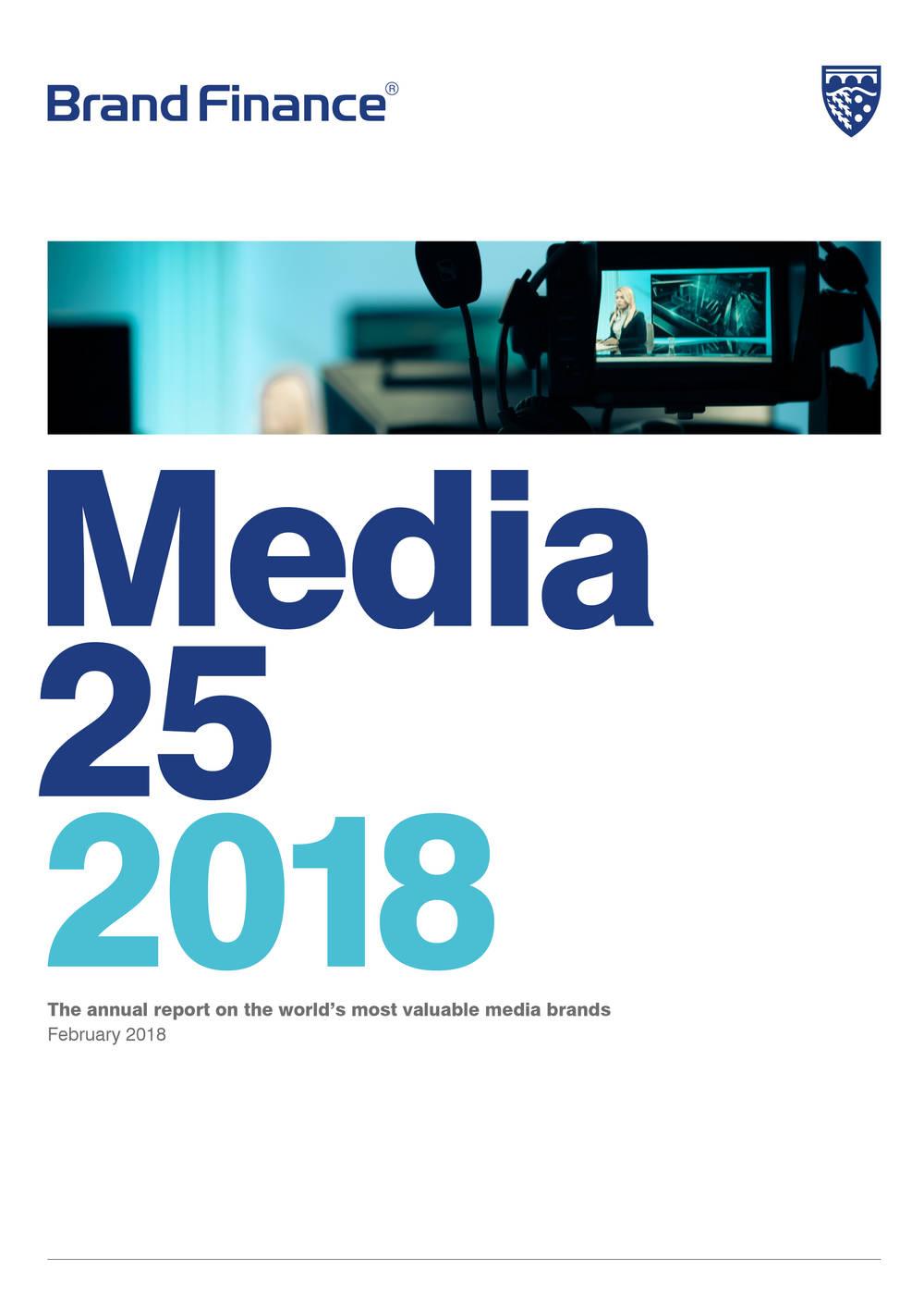 Brand Finance Media 25 2018