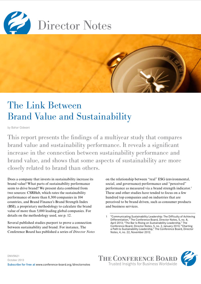 The Link Between Brand Value and Sustainability