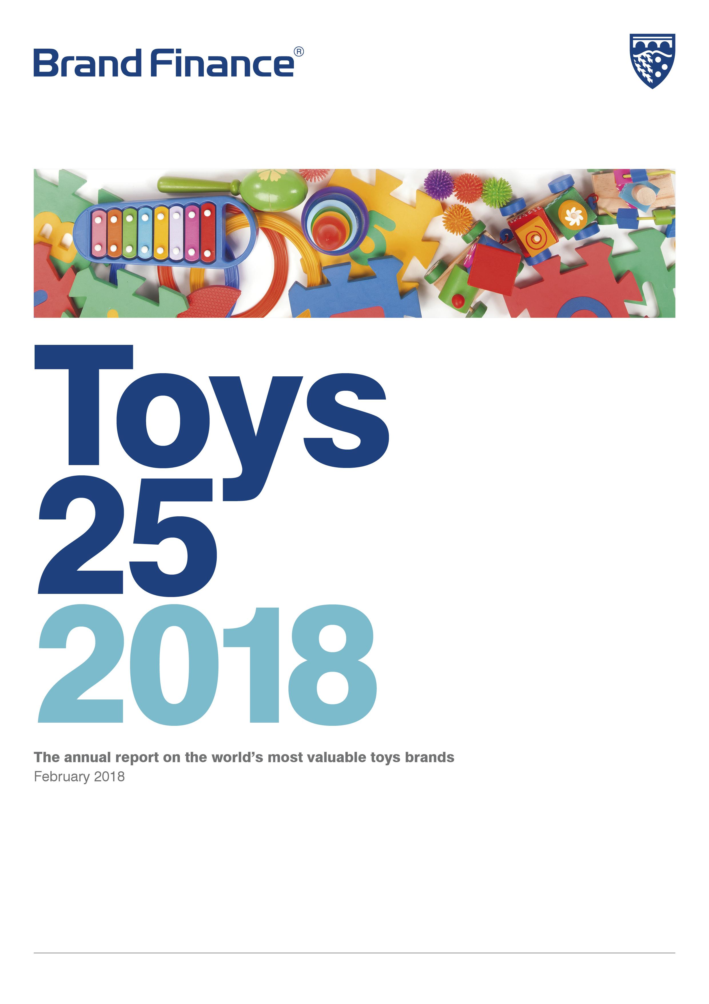 Brand Finance Toys 25 2018